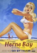 Herne Bay, Kent. British Railway Vintage Travel Poster. 1961